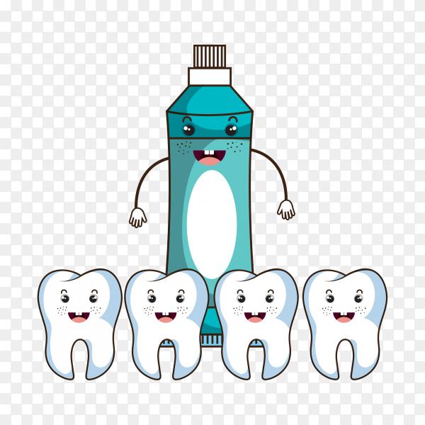 Dental care design illustration on transparent background PNG.png