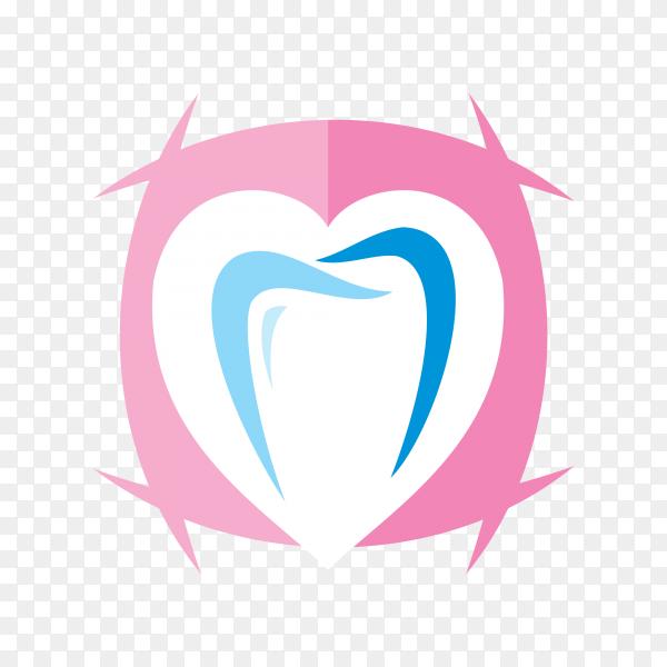Dental care logo design element for dental clinic on transparent PNG.png