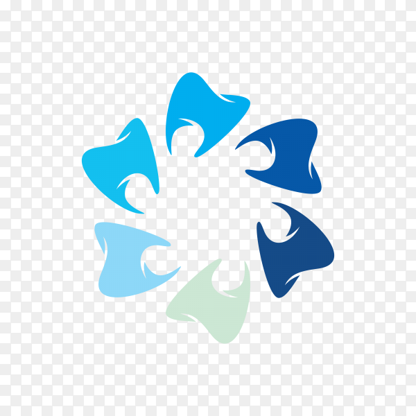 Dental care logo design premium vector PNG