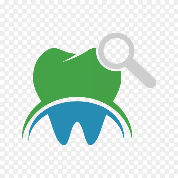 Dental care logo illustration on transparent background PNG.png