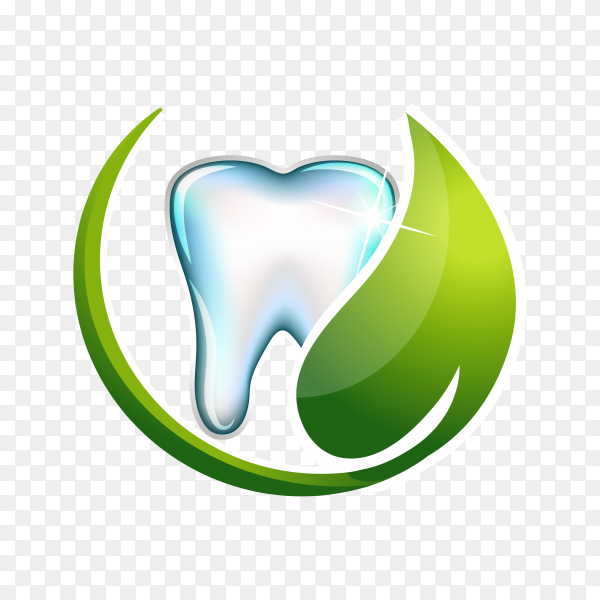 Dental care logo isolated on transparent background PNG