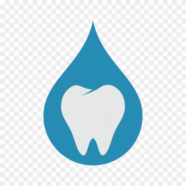 Dental care logo on transparent background PNG.png
