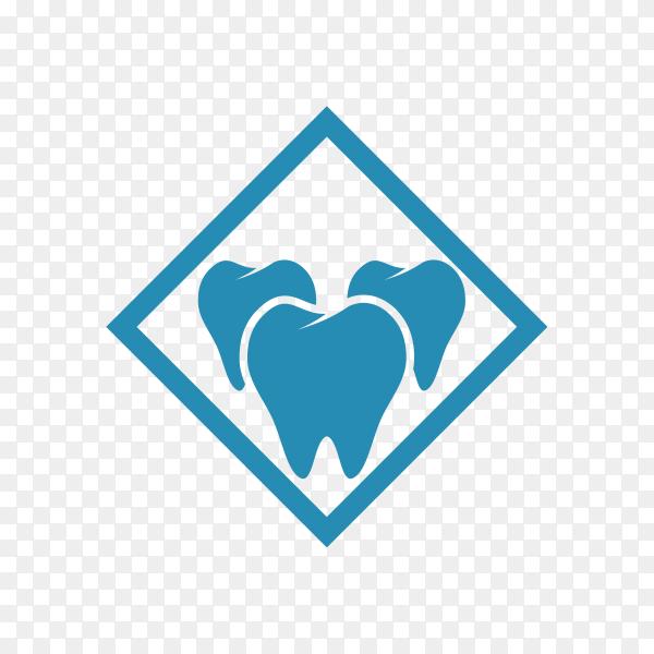 Dental care logo template in flat design on transparent background PNG.png