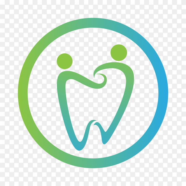 Dental care logo template isolated on transparent background PNG.png