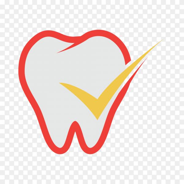Dental care logo template on transparent background PNG.png