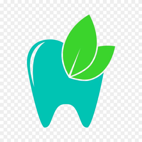 Dental care logo with modern natural concept on transparent background PNG.png