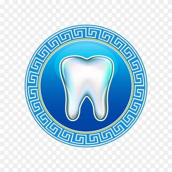 Dental clinic logo design on transparent PNG.png