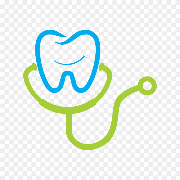 Dental clinic logo template on transparent background PNG.png