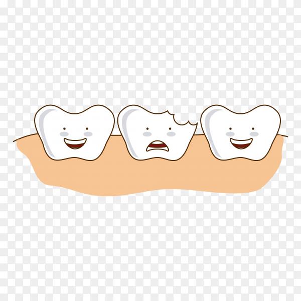 Dental design over pin illustration on transparent PNG
