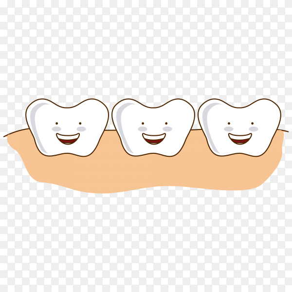 Dental design over pin illustration on transparent background PNG