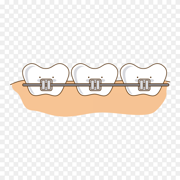 Dental design over pin isolated premium vector PNG