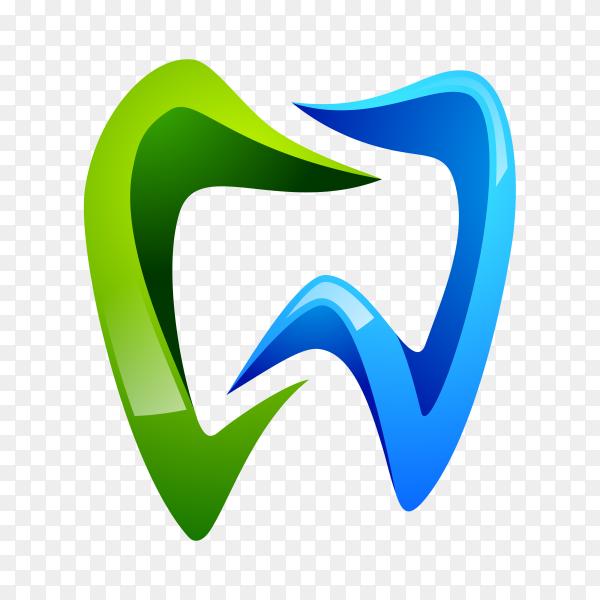 Dental health logo template on transparent background PNG.png