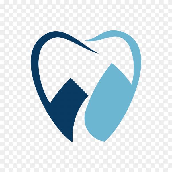 Dental logo design concept on transparent background PNG