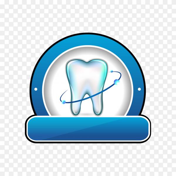 Dental logo design on transparent background PNG.png