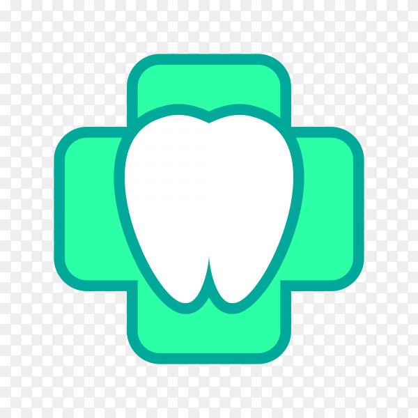 Dental logo icon illustration on transparent background PNG
