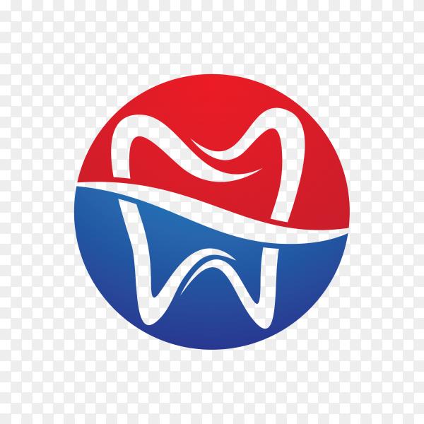 Dental logo template ,tooth logo on transparent background PNG.png