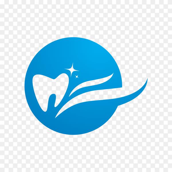 Dental logo template in flat design on transparent background PNG.png
