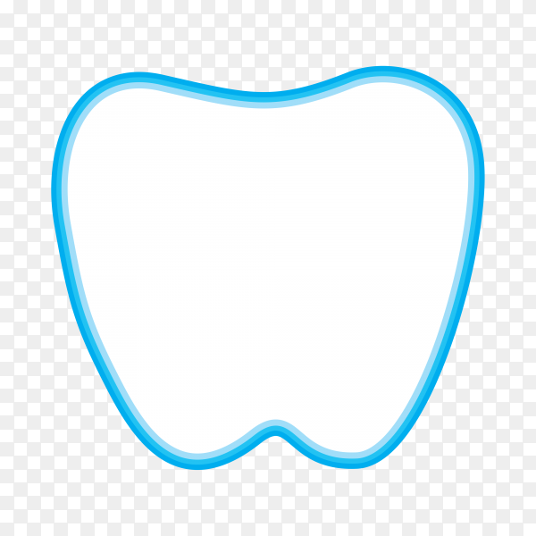 Dental template isolated on transparent background PNG