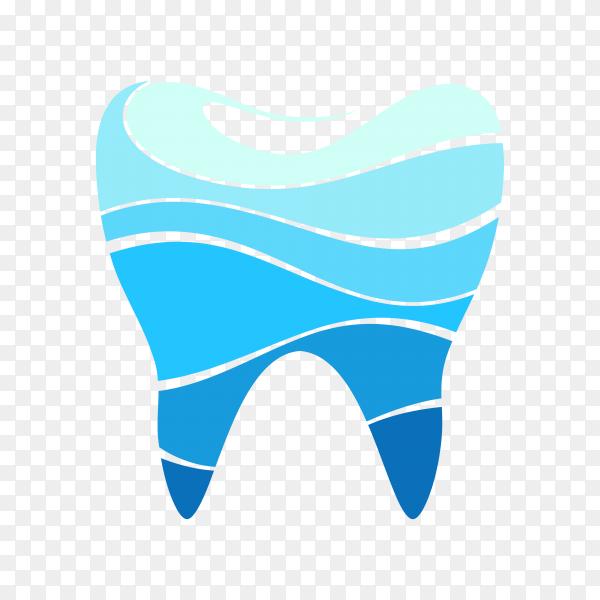 Dentistry logo design on transparent background PNG