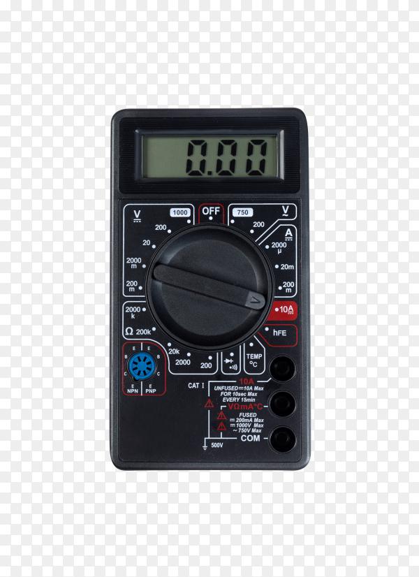 Digital multimeter isolated on transparent background PNG