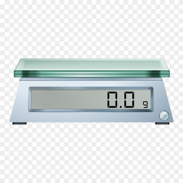 Digital scale illustration on transparent background PNG