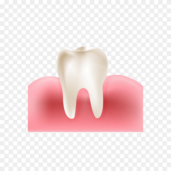 Dirty teeth vector illustration flat style design. teeth icon on transparent background PNG