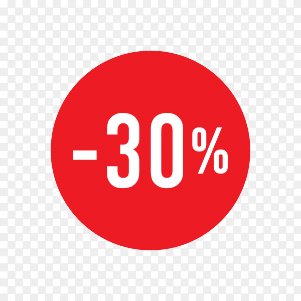 Discount tag template design for sale banner on transparent background PNG