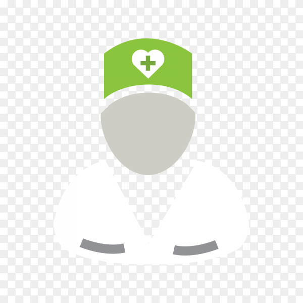 Doctor icon on transparent background PNG
