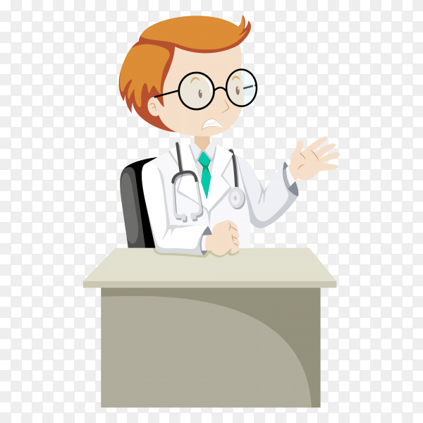 Doctor in uniform and stethoscope illustration premium vector PNG