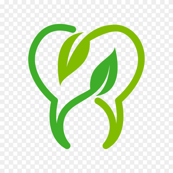 Eco dental logo on transparent background PNG