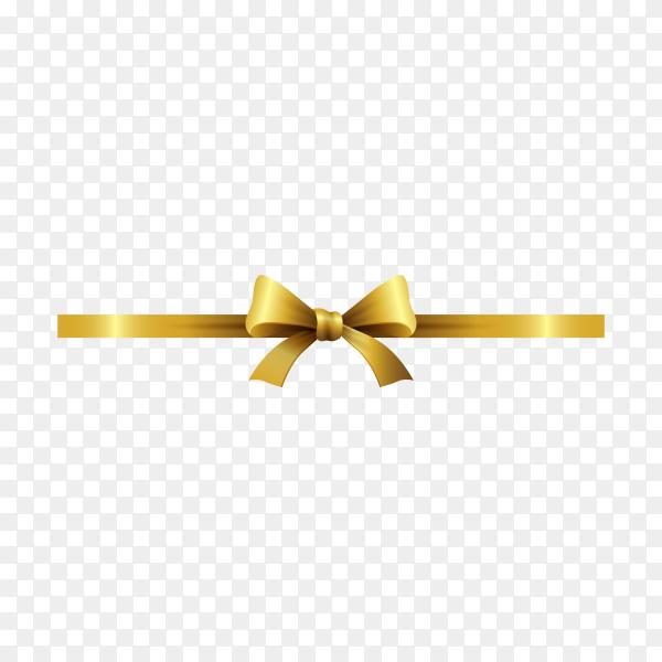 Elegant golden bow  on transparent background PNG.png