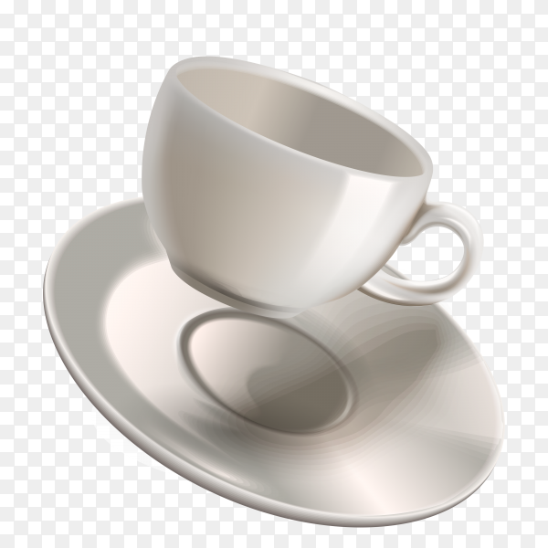 Empty coffee cup on transparent background PNG