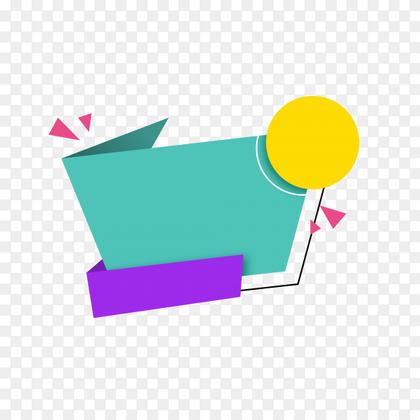 Empty colorful sale banner template on transparent background PNG