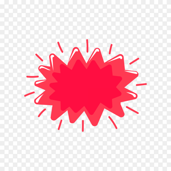 Empty colorful speech bubble premium vector PNG