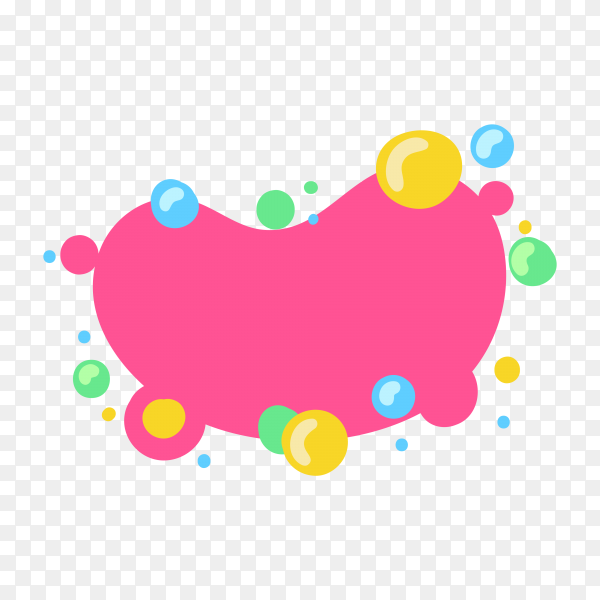 Empty design element for comic book on transparent background PNG