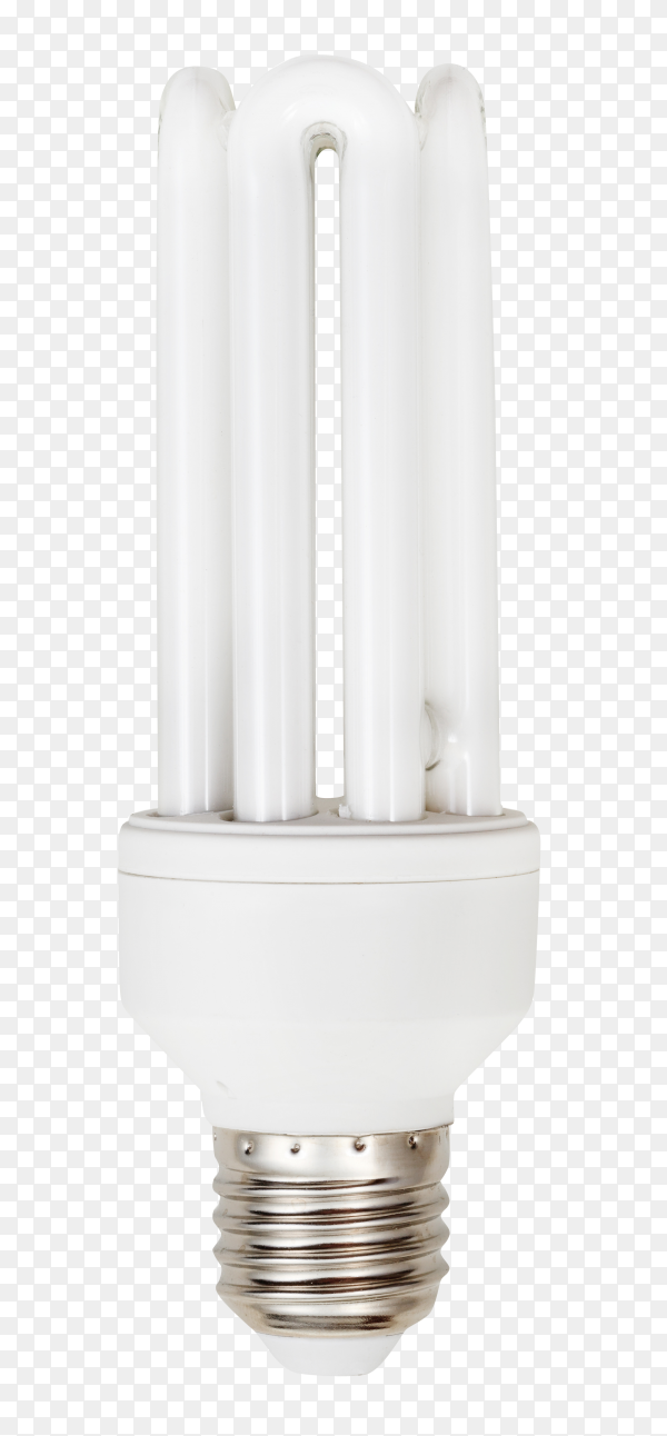 Energy saving lamp on transparent background PNG