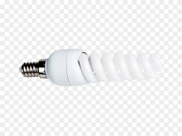 Energy saving light bulb isolated on transparent background PNG