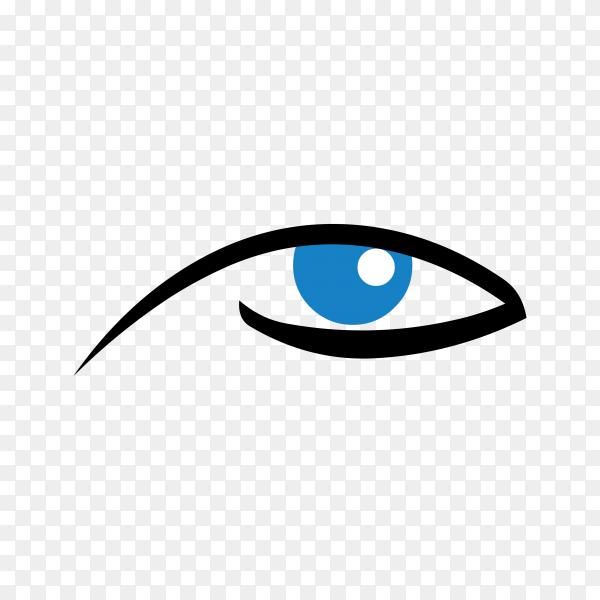 Eye icon logo on transparent background PNG