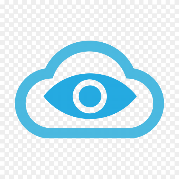 Eye icon on transparent background PNG