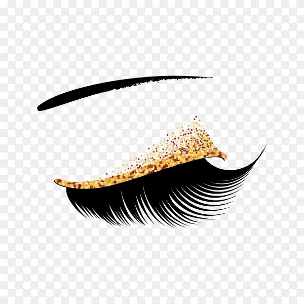 Eyelash extension banner on transparent background PNG