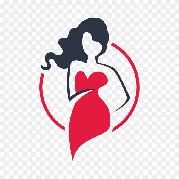 Fashion and beauty logo isolated premium vector PNG