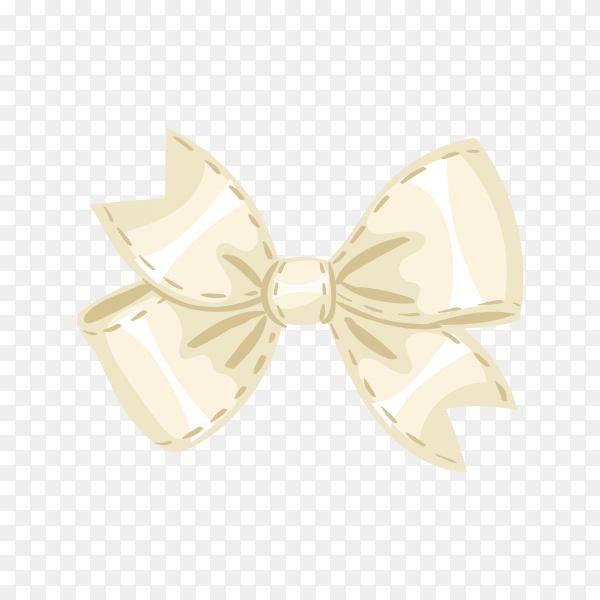 Fat design beautiful bow on transparent background PNG