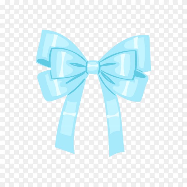 Flat design blue bow on transparen background PNG.png