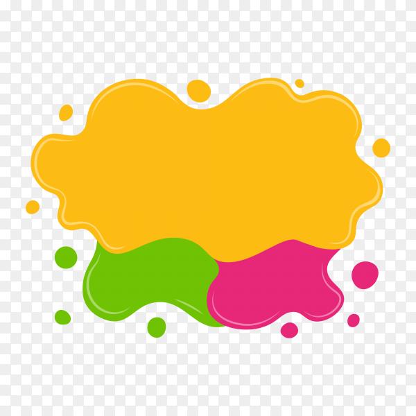Flat design colorful speech bubble on transparent PNG