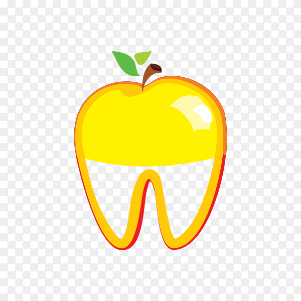 Flat design tooth icon in orange color on transparent background PNG.png