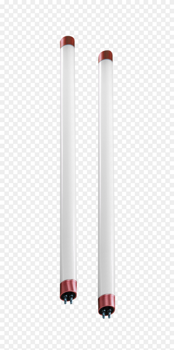 Fluorescent lamp isolated on transparent background PNG