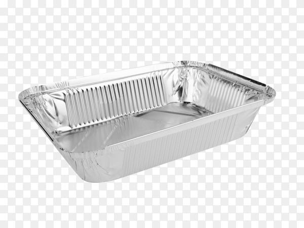 Foil Food Box on transparent background PNG
