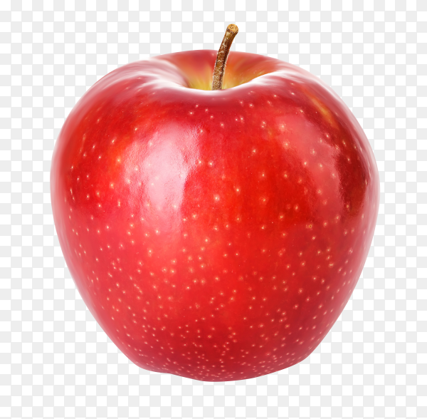 Fresh red apple isolated on transparent background PNG