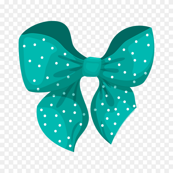 Gift bow colorful in flat design illustration on transparent background PNG.png