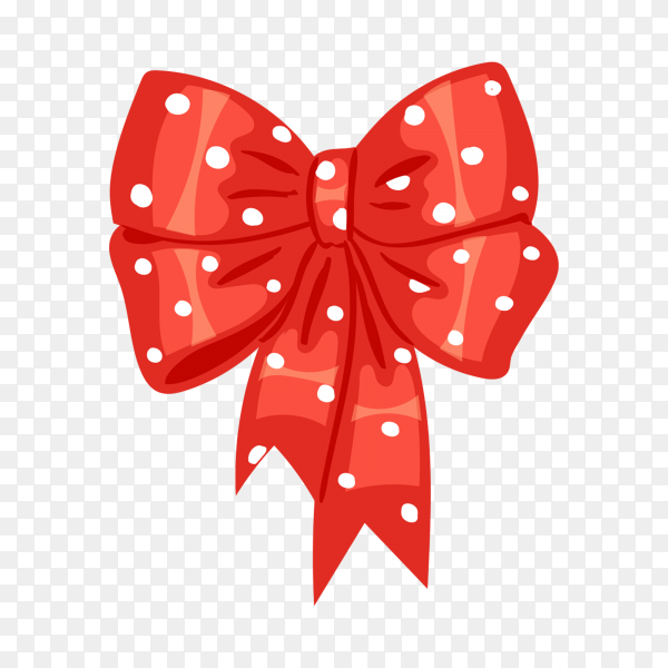 Gift bow colorful in flat design illustration premium vector PNG.png